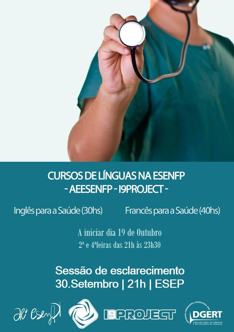 inglês para a saúde, francês para a saúde